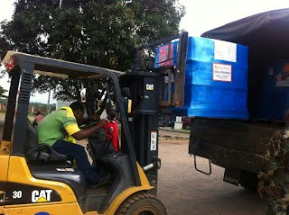 Air pallets Direct Relief begin September 2014