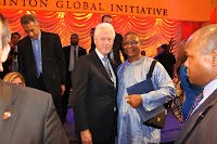 Mr. Jalloh with Bill Clinton
